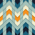 Seamless Zigzag Pattern Abstract Geometric Mosaic Tiled background Vector Royalty Free Stock Photo