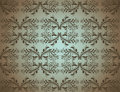 Seamlessly Damask Wallpaper Stock Image