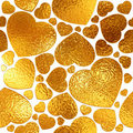 Seamlessly golden hearts background. Stock Image