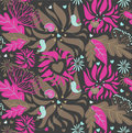 Seampless floral pattern Stock Image