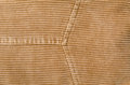 Seams on corduroy full frmae take of fabric Stock Photography