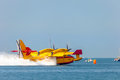 Seaplane canadair cl cadiz spain sep taking part in an exhibition on the nd airshow of cadiz on sep in cadiz spain Royalty Free Stock Photography
