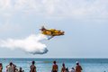 Seaplane canadair cl cadiz spain sep taking part in an exhibition on the st airshow of cadiz on sep in cadiz spain Royalty Free Stock Images