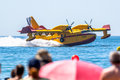 Seaplane canadair cl cadiz spain sep taking part in an exhibition on the st airshow of cadiz on sep in cadiz spain Stock Photos