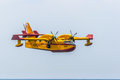 Seaplane canadair cl cadiz spain sep taking part in an exhibition on the st airshow of cadiz on sep in cadiz spain Stock Image