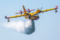 Seaplane canadair cl cadiz spain sep taking part in an exhibition on the st airshow of cadiz on sep in cadiz spain Stock Photography