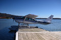 Seaplane lake rotorua new zealand the main tourist attraction in the city is located in the area of ​​geothermal activity the Stock Images