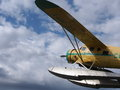 Seaplane with pontoons at the edmonton aviation museum Stock Photography