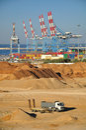 Seaport of Ashdod. Israel. Royalty Free Stock Photo