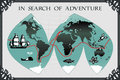 In search of adventure this image has vector editable copy Royalty Free Stock Photos