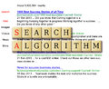 Search algorithms formed in a crossword puzzle with result background Stock Photography