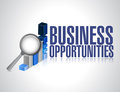 Search for business opportunities graph research illustration design Stock Photo