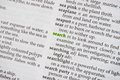 Search in dictionary Royalty Free Stock Photo