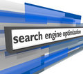 Search Engine Optimization Bar Royalty Free Stock Photo