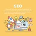 Search engine optimization. Royalty Free Stock Photo