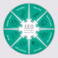 Search engine optimization infographic concepts puzzle infographics Stock Photography