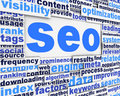 Search engine optimization poster Royalty Free Stock Photos