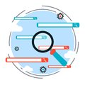 Search engine optimization process, web search vector concept Royalty Free Stock Photo