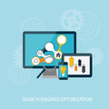 Search engines optimization concept vector illustration Stock Images