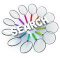 Search - Magnifying Glasses in Circle Royalty Free Stock Image