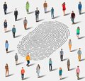 The search for a person by fingerprint