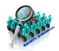 Search professionals in the design of information related to the business and the people Stock Images
