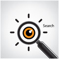 Search symbol business ideas vector illustration Stock Images