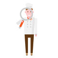 Searching chef vector illustration of on white background Stock Photography