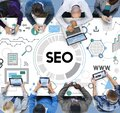 Searching Engine Optimizing SEO Browsing Concept Royalty Free Stock Photo
