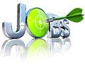 Searching for jobs d concept rendering icon Stock Photos