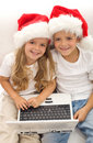 Searching for the perfect christmas gift online Royalty Free Stock Photo