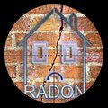 Searching radon gas in our homes - concept illustration with viewfinder on foreground