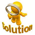 Searching solution Royalty Free Stock Images