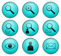 Searching vector web icons Royalty Free Stock Photo