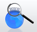 Searching for web address Royalty Free Stock Photo
