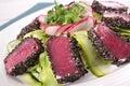 Seared tuna closeup Royalty Free Stock Photo