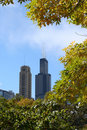 Sears tower in autumn Stock Images