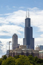Sears tower in chicago illinois the highest building usa Stock Photo
