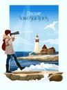 Seascape Background Illustration Royalty Free Stock Photo