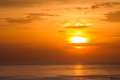 Seascape Beautiful sunset Royalty Free Stock Photo