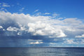 Seascape with blue sky and cloud Stock Photography