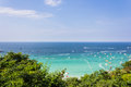 Seascape in blue sky day at koh larn pattaya thailand Royalty Free Stock Image