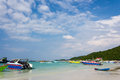 Seascape in blue sky day at koh larn pattaya thailand Stock Photos