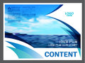 Seascape and blue sky presentation layout design template background for tourism travel business. illustration