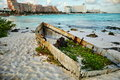 Seascape in Cancun, Mexico. Royalty Free Stock Photo