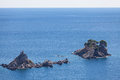 Seascape church on the island in montenegro Stock Photos