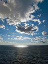 Seascape with clouds Royalty Free Stock Image