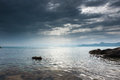 Seascape crimean peninsula sea view from the coast of the black sea Royalty Free Stock Images