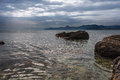Seascape crimean peninsula sea view from the coast of the black sea Stock Photos