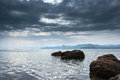 Seascape crimean peninsula sea view from the coast of the black sea Royalty Free Stock Image